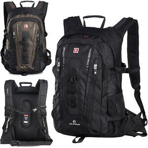40L SWISSWIN Men Women Waterproof Backpack Rucksack 15