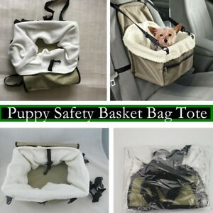 Puppy-Dog-Car-Seat-Booster-Small-Auto-Travel-Lookout-Carrier-Safety-Basket-Pet