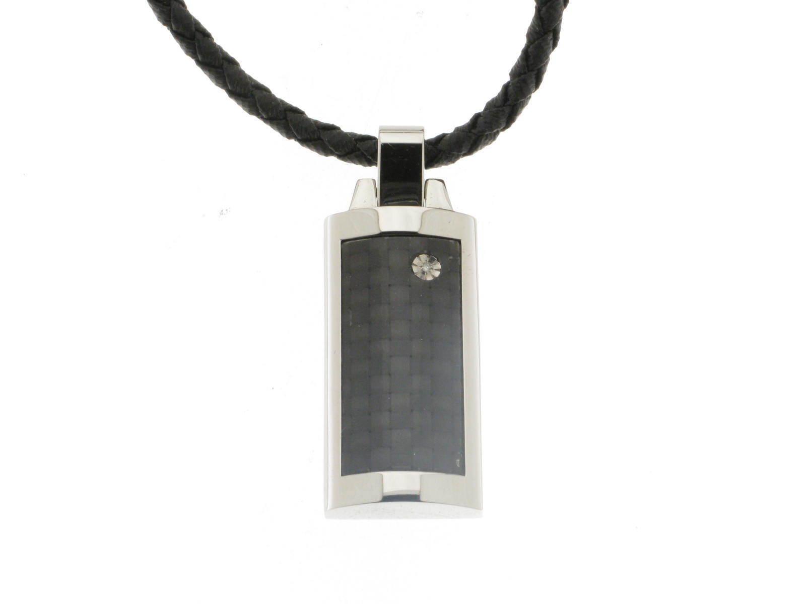 MORELLATO collana Blade acciaio carbonio e diamante naturale S01L506P