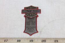 NEW! OEM Harley Davidson Wrap Around Oil Tank PATENT Name Plate Part #66041-05