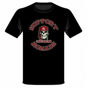 01 Benidorm Bastards HELLS ANGELS Motorcycle Club SUPPORT 81 Biker 1/%er T-shirt
