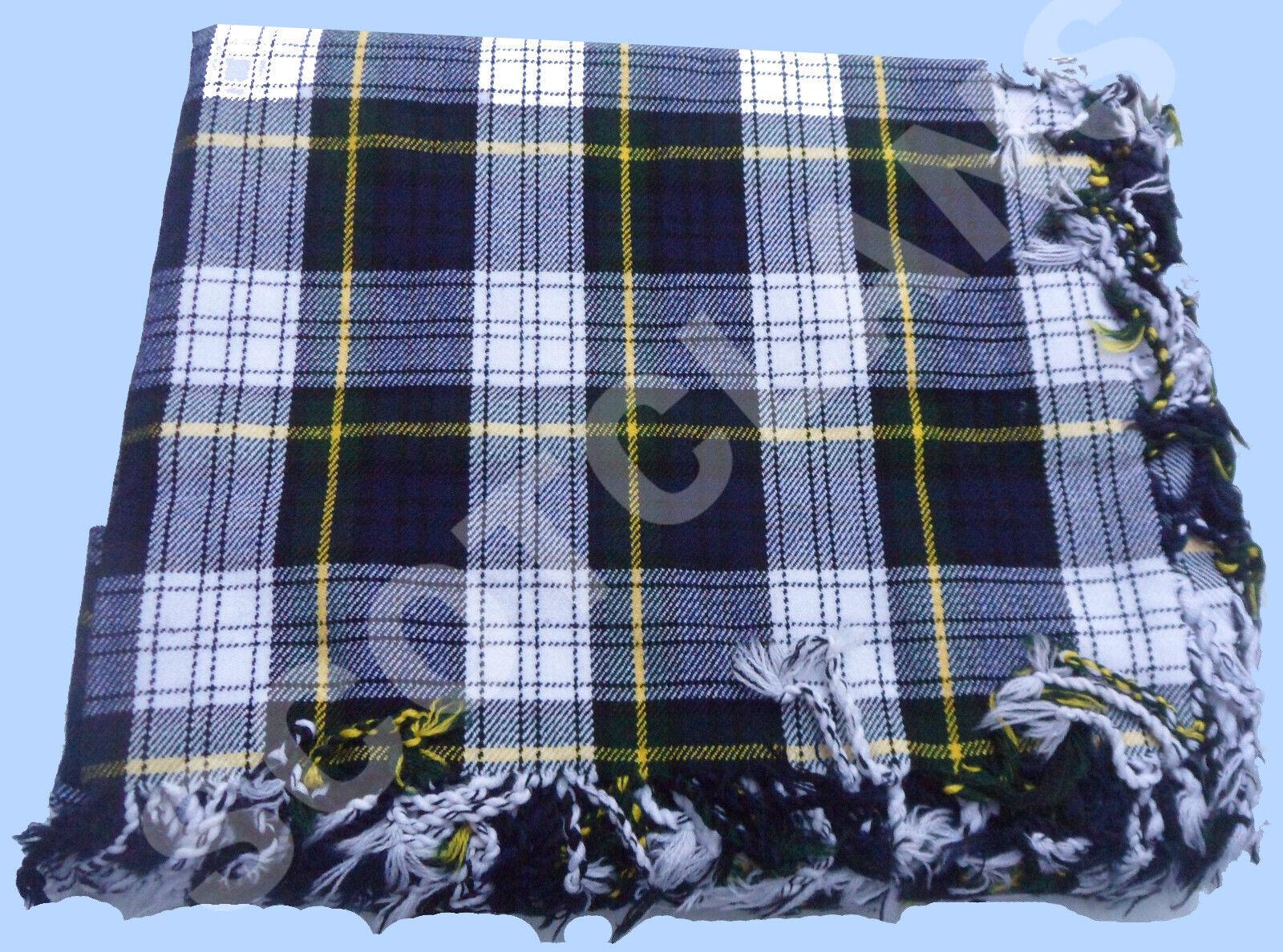 Scottish Kilt Fly Plaid Dress Gordon Tartan Acrylic Wool 48