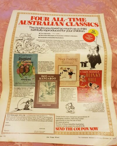Classic Australian Books 1973 Magazine Advertisement
