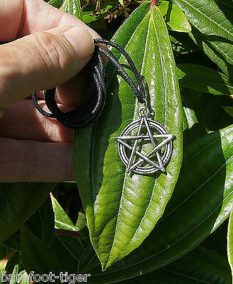 Pentagram Occult / Wicca Amulet Pendant. On Cotton Cord with Empowering Ritual.