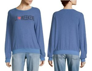 9b3805749f NEW WILDFOX COUTURE LE LOVE WEEKEND BAGGY BEACH JUMPER TUNIC SWEATER ...