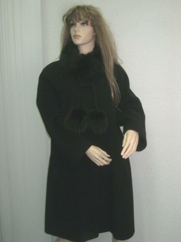????luxus Designer Mantel Orig Fratelli Balli Classic Schwarz 42 Wie Neu???? Bereitstellung Von Annehmlichkeiten FüR Die Menschen; Das Leben FüR Die BevöLkerung Einfacher Machen