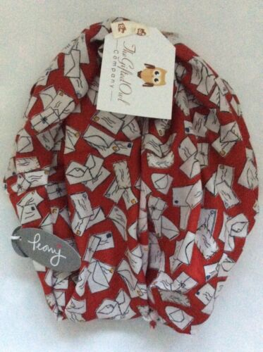 PEONŶ PAPER LETTERS RED SCARF MUM SISTER WIFE GIFT WRAP POST WRITER FRIEND BOOK