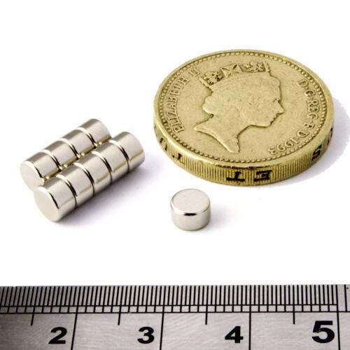 Neodimio Disco Magneti diametro 5mm x 3mm THICK Grade N50 Piccolo /& forte magnete rotondo