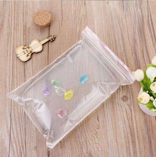 500pcs 4X6CM Small Ziplock Clear Poly Bag Reclosable Plastic Jewelry Baggies CA