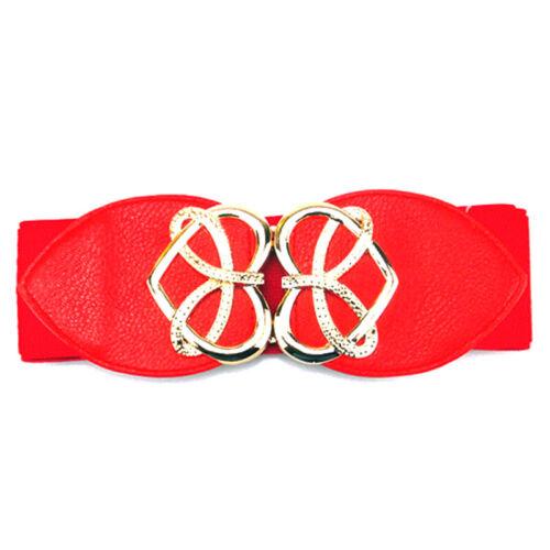 Neu Damen Elastisch Breit Taillengürtel Stretchgürtel Schnalle Gürtel Hüftgürtel