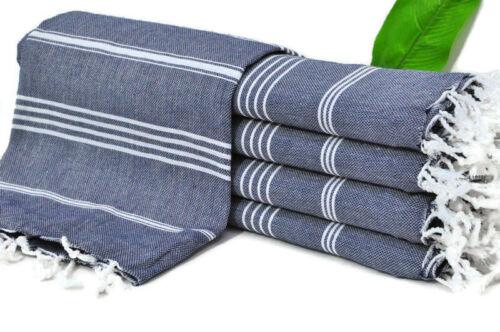 "Turkish Towel Navy Peshtemal Striped Towel, 40/""x70/"" Turkish Peshtemal"