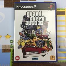 GRAND THEFT AUTO III (GTA 3) - SONY PLAYSTATION 2 PS2 GAME WITH MAP - MINT