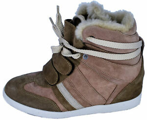 Serafini Sneaker Light Brown Zeppa Donna Woman Chiaro Marrone Scarpa qwZTIxHX