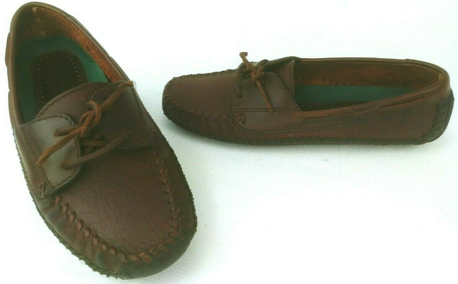 H.S. Trask Brown Leather Driving Loafers shoes Moc Toes Mens Size 8 1 2 D
