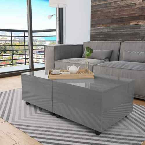 High Gloss Coffee Table Extendable Side//End Table Desk Living Room 3 Colours NEW