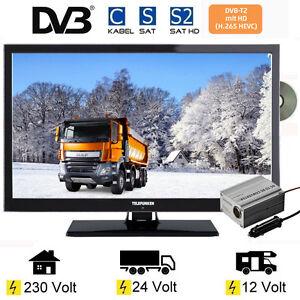 telefunken l22f272k4dv led tv 22 zoll dvb s s2 t2 c dvd 12 v 230v lkw 24 volt 4024862074470 ebay. Black Bedroom Furniture Sets. Home Design Ideas