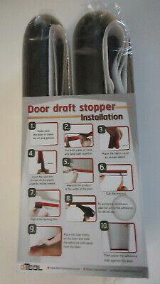 """deeToolMan Door Draft Stopper 36"""" One Sided Door Insulator with Hook and Lo..."""