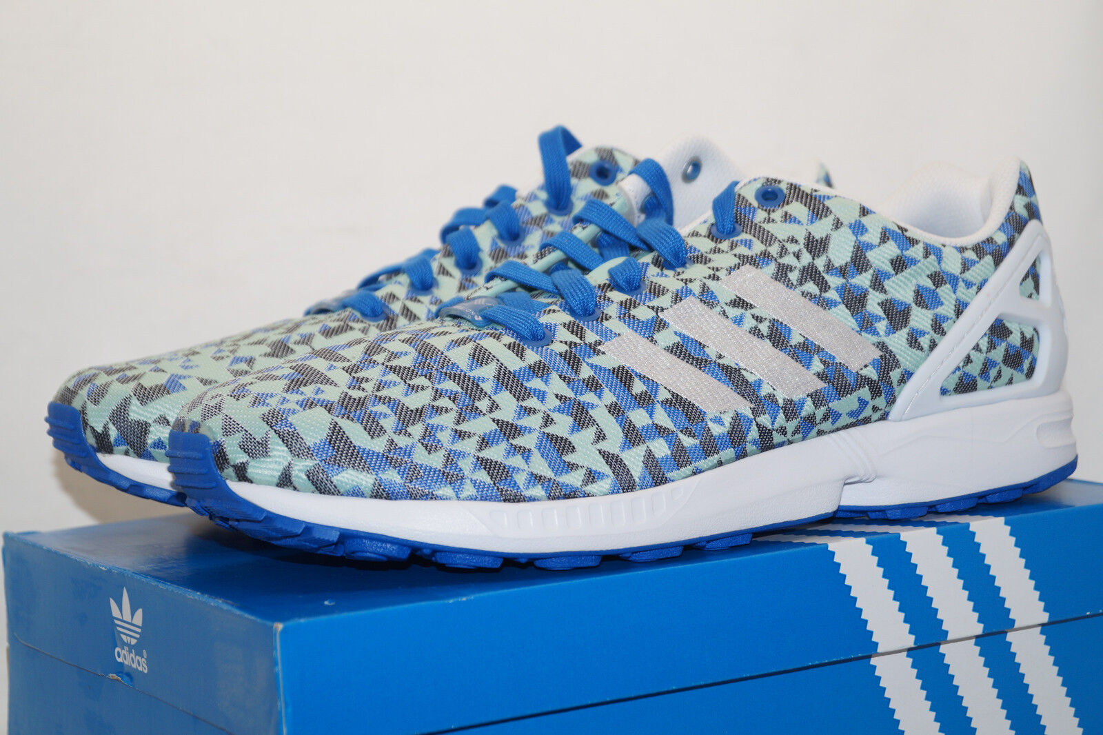 Adidas Originals ZX Flux torsion weave UE 46.6 uk11.5 azul verde claro b34474