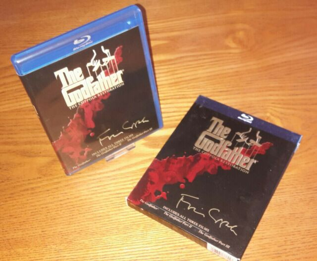 THE GODFATHER COLLECTION Blu-ray US import region a free abc(rare OOP slipcover)