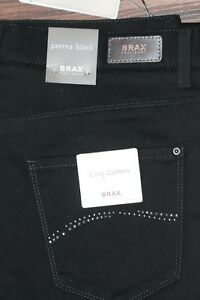 wähle das Neueste Junge abgeholt Details about Jeans Trousers Brax Perma Black Model Carola Glamour Size 34  New with Label