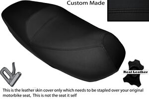 BLACK STITCH CUSTOM FITS PIAGGIO CARNABY 125 DUAL LEATHER SEAT COVER