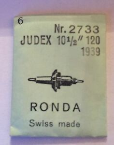 "Judex 10 1//2/""  120 1939 Asse bilanciere balance staff"