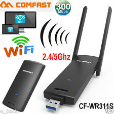 Dual Band 2.4 5G USB 3.0 Wireless WiFi Network Adapter 802.11AC /b/g/n 300 Mbps