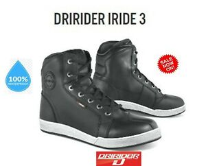 NEW-DRIRIDER-Iride-3-motorcycle-shoes-LEATHER-Waterproof-All-sizes-Current-model