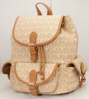 Fashion Backpack Style Purse Bookbag Beige Black Brown Handbag