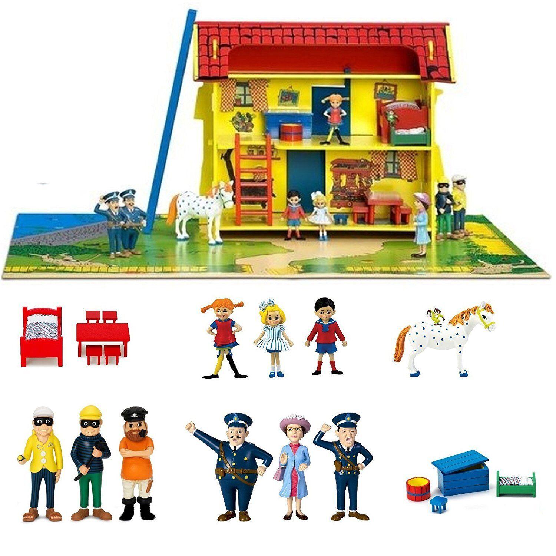 Pippi Longstocking Dollhouse Furniture Game Figurines Hoppetosse