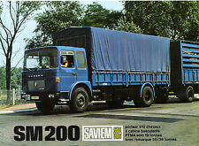 Saviem SM 200 Truck 1968-69 French Market Foldout Sales Brochure