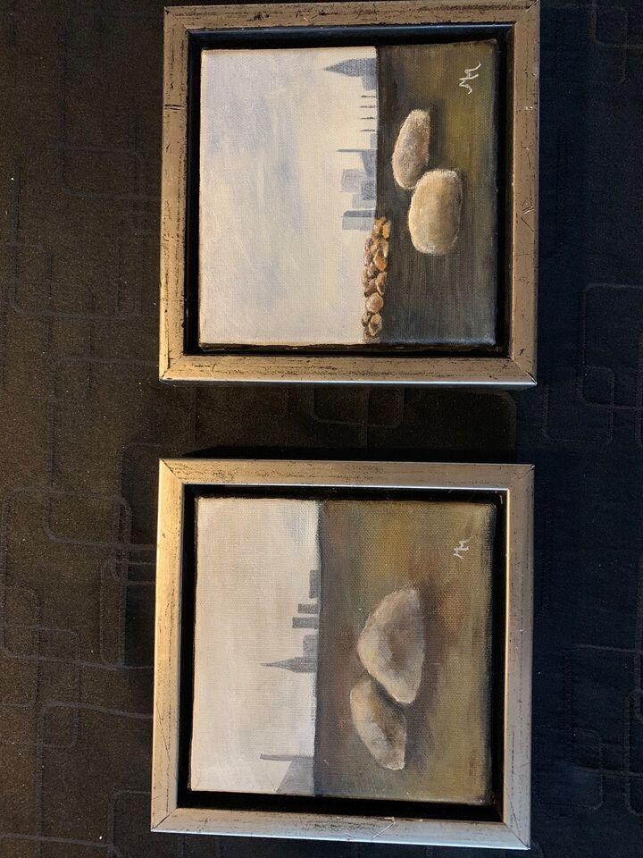 Akrylmaleri, MM, motiv: Landskab