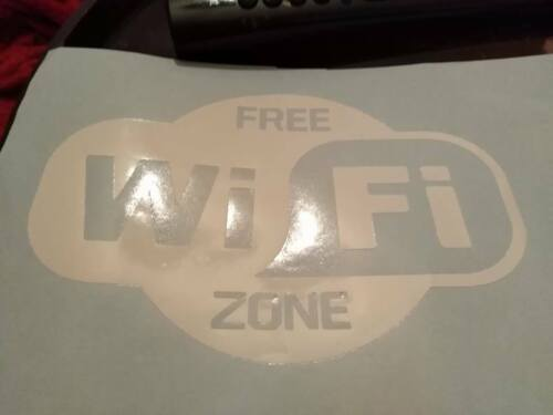 WIFI Stickers for wall and glass A5 size any colour
