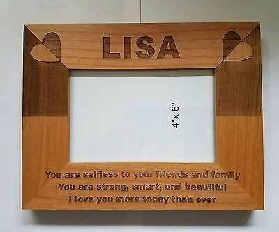 Personalized Laser Engraved 4x6 frame for Best Friend Birthday Christmas Gift