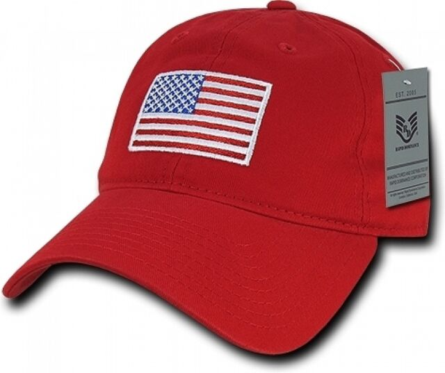 db3b3f71d3f Good quality. About this product. Red USA American Flag Baseball Cap  Graphic Relaxed Patriotic Baseball Cap Hat