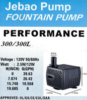 Jebao Pp300l Water Pump With 10w Light 40 Gph