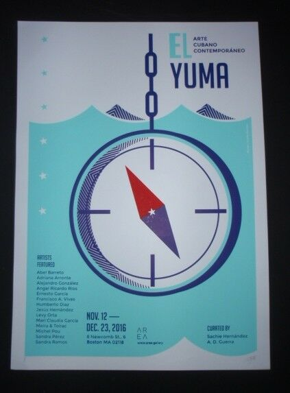 EL YUMA / Signed Original Cuban Silkscreen Poster for Havana Cuba Art Exhibit