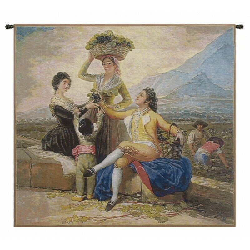 Vendimia Small Belgian  Tapestry Wall Hanging H 33  x W 36