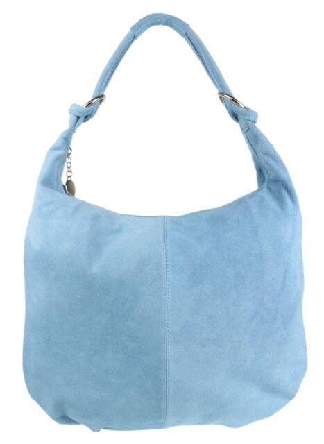 44a972616ad4 Hobo Italian Genuine Suede Leather Soft Shoulder Bag Oversized ...