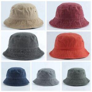 cbbef7e76 Details about The Hat Depot Denim Washed Cotton Bucket Hat Pure Bonnet  Adult Practical ##s AU