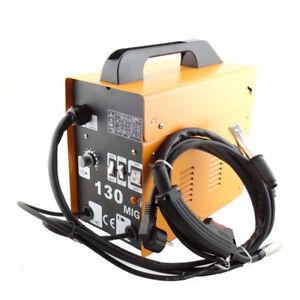 Ampere-Schweissgeraet-Schutzgas-MIG-130-Elektrodenschweissmaschine-FLUX-Fuelldraht