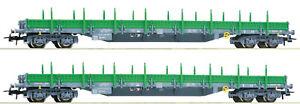 Roco-H0-67081-Rungenwagen-Set-034-Bauart-Res-034-der-RENFE-2-teilig-NEU-OVP