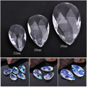Teardrop Crystal Glass Faceted Loose Beads Pendant 6x12mm 8x13mm 8x16mm 10x20mm