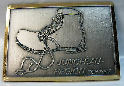 Jungfrau Region used (Silver color gold trim) Hat Lapel Pin Tie Tac HP1513