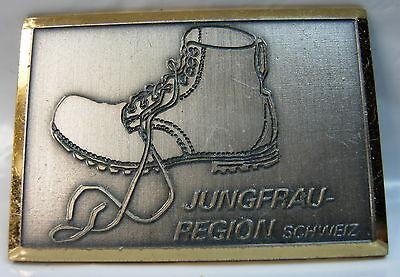 Jungfrau Region used (Silver color gold trim) Hat Lapel Pin Tie Tac HP1513