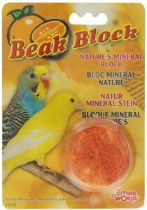 Living World Mineral Block, Orange (for Parakeets), 1 Ounce