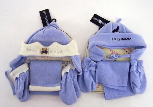 Little Bunny /& Fairy 2 Stück im 3er Set Mütze Schal Handschuh one Size blau//weiß
