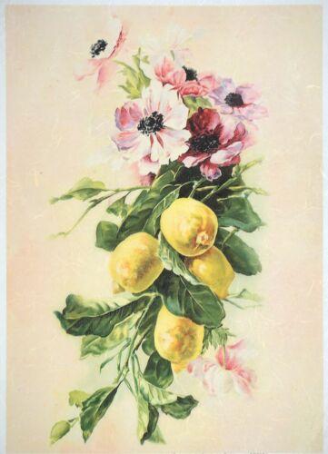 Papier de riz pour decoupage DECOPATCH Scrapbook Craft Feuille Vintage Lemon Tree