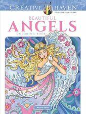 Adult Coloring: Creative Haven Beautiful Angels Coloring Book by Marjorie  Sarnat (2018, Paperback)
