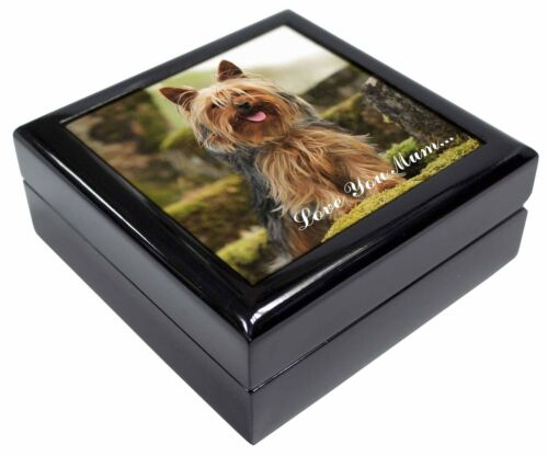 Yorkshire Terrier /'Love You Mum/' Keepsake//Jewellery Box Christmas G AD-Y84lymJB